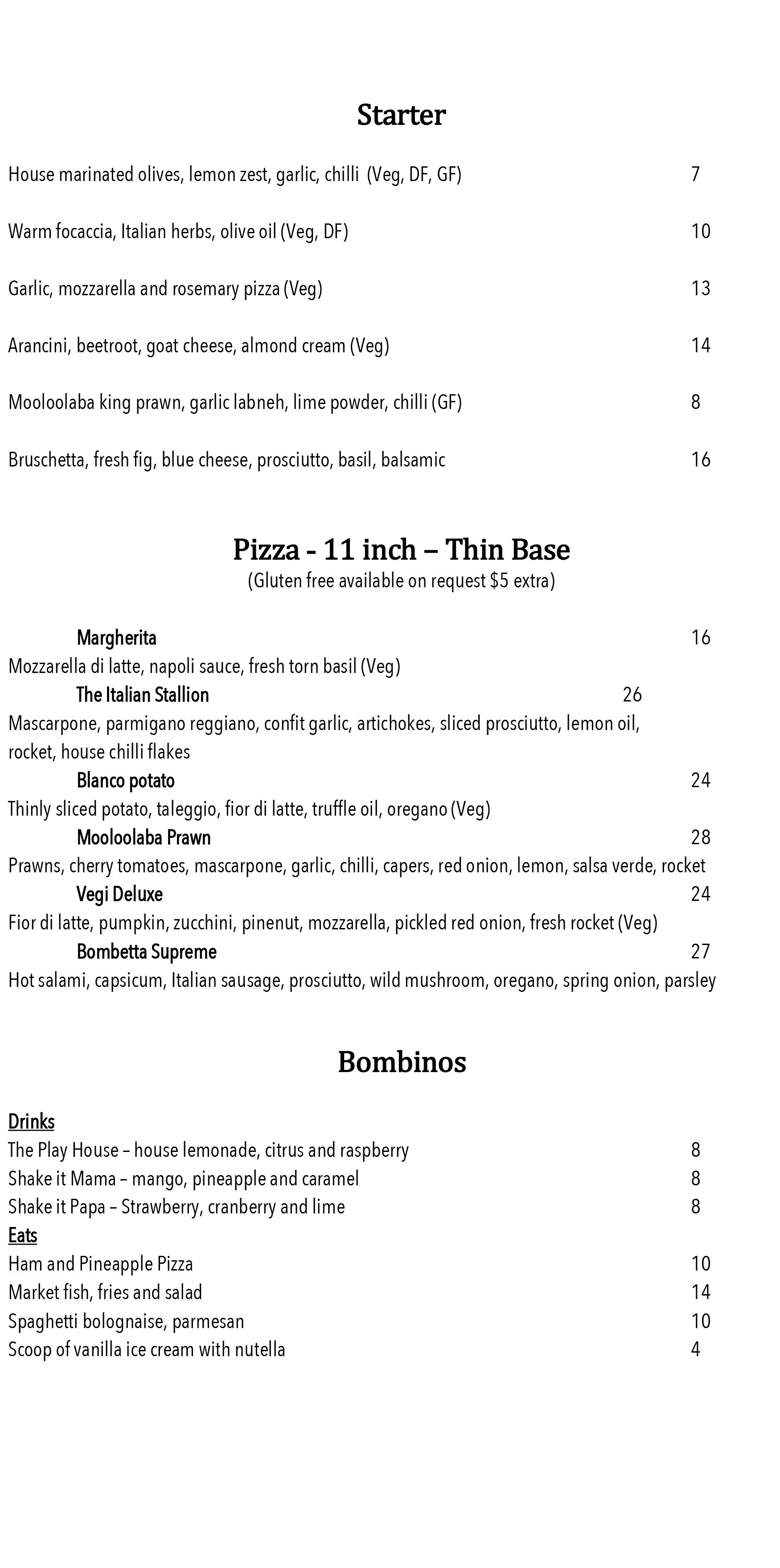 Bombetta Italian Restaurant Menu 01 (1)
